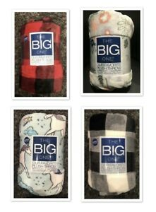 The-Big-One-Oversized-Plush-Throw-Blanket-5-ft-x-6-ft-See-Selections-NEW