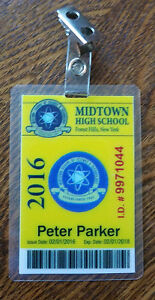Image Is Loading Spider Man ID Badge Midtown High School Peter