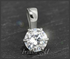Diamant-585-Gold-Brillant-Anhaenger-0-57ct-Solitaer-in-River-E-Diamantanhaenger