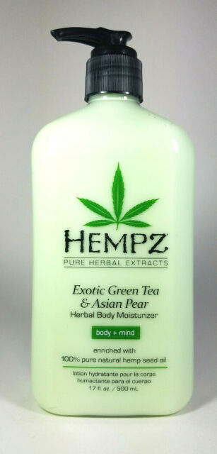 *NEW* Hempz Exotic GREEN TEA AND ASIAN PEAR Herbal Body Moisturizer Lotion 17oz