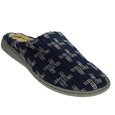 Neu Magnus Herren Hausschuhe - Pantoffeln - Schuhe - Warmfutter - Navy