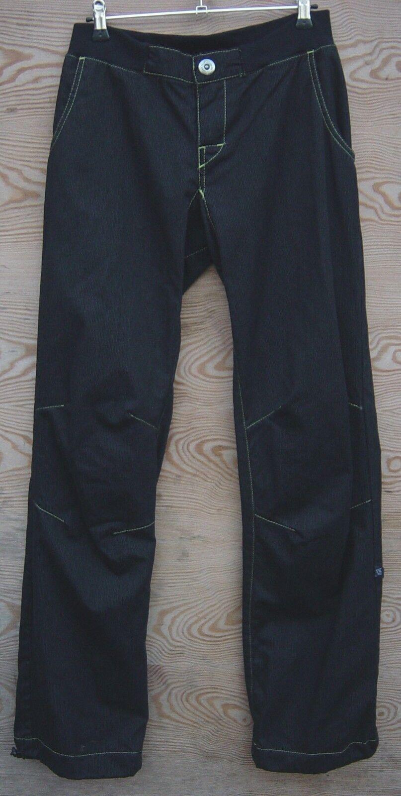 E9 Pantalones para Escalar para Mujer Mujer Montone, Talla XL, gris Stripes