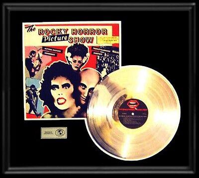 ROCKY HORROR SOUNDTRACK LP GOLD RECORD PLATINUM  DISC LP ALBUM FRAME