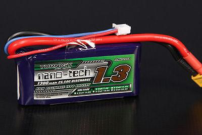 BATTERIA LIPO TURNIGY NANO-TECH 1300 MAH 2S 25-50C LIPO 7,4 V