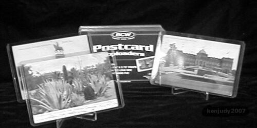 100 Postcard Topload Holders Archival Storage Clear Rigid Sleeves Wholesale
