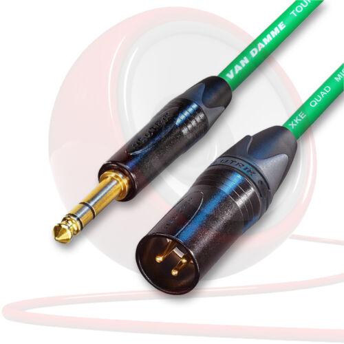 Van Damme /& Neutrik Starquad Gold XLR 1//4 Trs Kabel Balanced Kabel