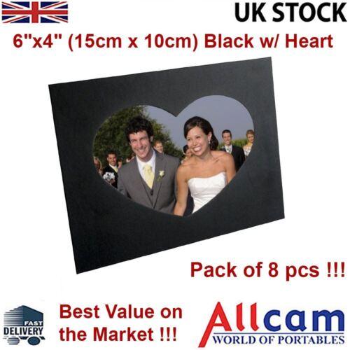 "nouveau 8 pack JSP amour coeur supports photo mount stands /& support mural 6 /""X4/"" noir"