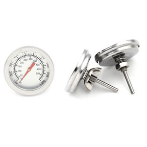 Edelstahl-Barbecue-Grill-Raucher-Grill-50-500-Thermometer-TemperaturanzeigeCRH