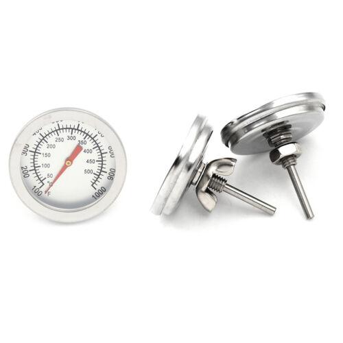 Edelstahl Barbecue Grill Raucher Grill 50-500 Thermometer Temperaturanzeige WQZV