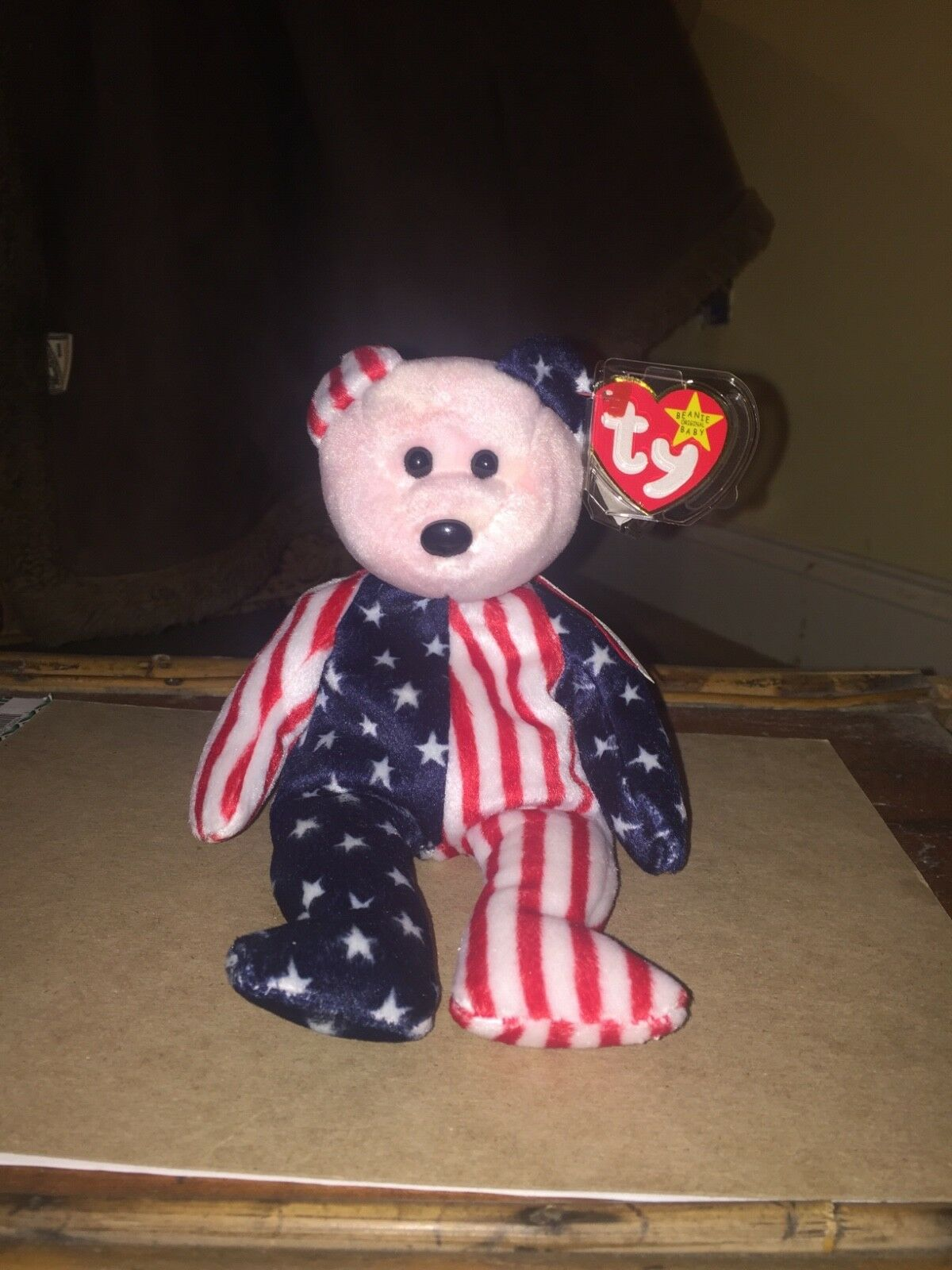"""TY original beanie baby """"spangle"""" new condition, condition, condition, retired, pink face, w tag RARE 828732"""