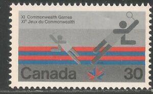 Canada-758-A374-VF-MNH-1978-30c-Badminton-XI-Commonwealth-Games