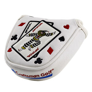 Center-Shaft-Magnetic-Golf-Mallet-Putter-Cover-for-Scotty-Cameron-Odyssey-White