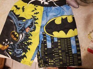 Batman DC Comics Swim Trunks Swim Suit Size Boys 8 New