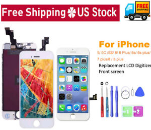 For iPhone 6 6S Plus 7 8 Lot Lcd Digitizer Touch Screen Replacement Assembly Kit