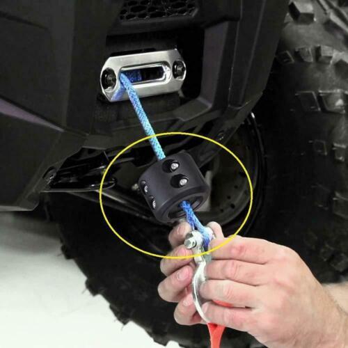 ATV UTV Winch Stopper Rubber Heavy Duty Cable Line Saver Rope Hook 2019 US