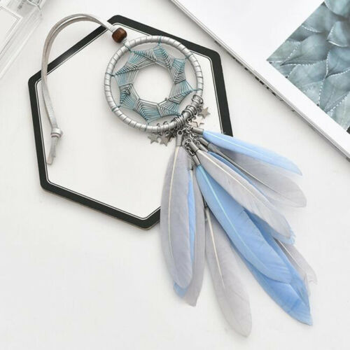 Car Auto Handicraft Feather Hanging Rearview Mirror Pendant Ornament Accessories