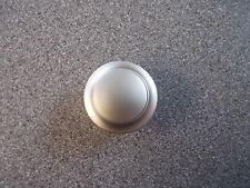 Large nickel push button and rosette for caravan wardrobe door lock PBN3