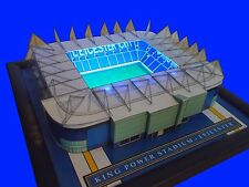 LEICESTER KING POWER MODEL STADIUM WITH WORKING FLOODLIGHTS