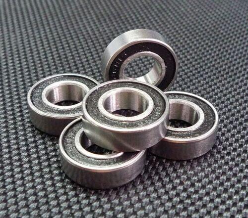 8x19x6 mm 4 Stück 698-2rs Metall Gummi Verpackt Kugellager 8 19 6 698rs