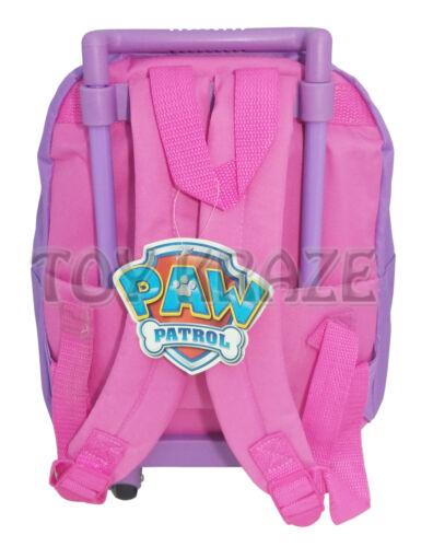 "PAW PATROL TODDLER ROLLING BACKPACK PURPLE PINK SKYE /& EVEREST GIRLS ROLLER 12/"""