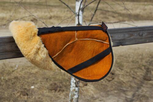 Saddle Cover100/% Genuine Siberian SheepskinUniversal Size