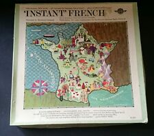 Instant French Learn the French language Vintage box set 2 LP's plus dictionary