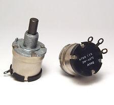 2x MIL Potentiometer / Potis, 470 Ohm, 3W, Entbrummer für Röhrenverstärker, NOS
