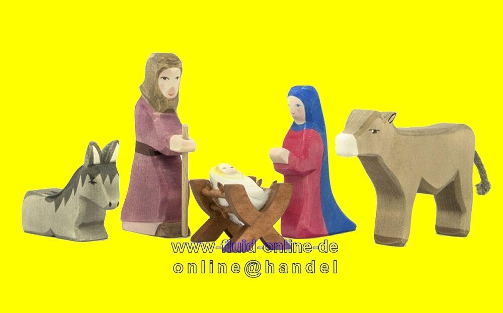 OSTHEIMER 42110 Set Heilige Familie Familie Familie II 5 Figuren aus Holz Serie II - NEU | Modern  a3d92b