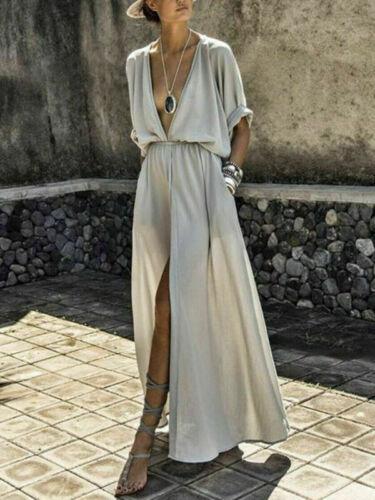 Women Boho Long Maxi Dress Evening Summer Cocktail Party Dresses Sundress Beach