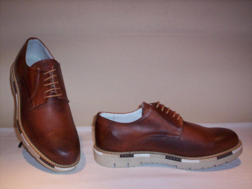 Made in  klassische braun Schuhe elegant casual Leder Männer braun klassische blau Mann 2a1b18