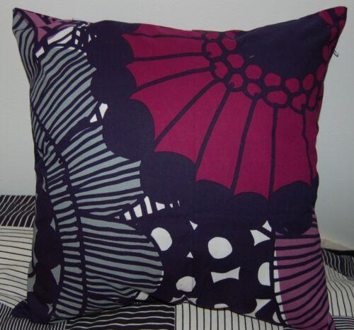 """Finland gray purple Marimekko Siirtolapuutarha pillow cushion case 45cm 18/"""""""