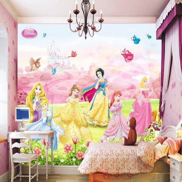 Wall Mural Photo Wallpaper EASY-INSTALL Fleece Girls Room Princess and Unicorn