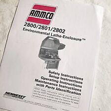 Ammco 2800 Brake Lathe Enclosure Operating Maintenance Amp Parts Manual 2801 2802