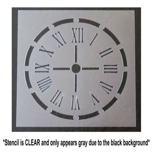 8 X 8 CLOCK Face STENCIL Roman Numerals//Steampunk//Vintage Art//Decor//Home