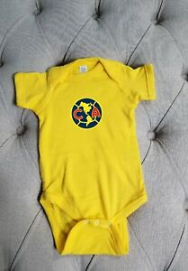 Club Aguilas// Club America Mexico Baby  6-9 months  add your baby/'s name free.
