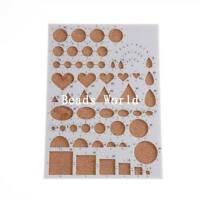 1 Pc Origami Quilling Paper Tool Design Work Precision Guide Board 21x15cm