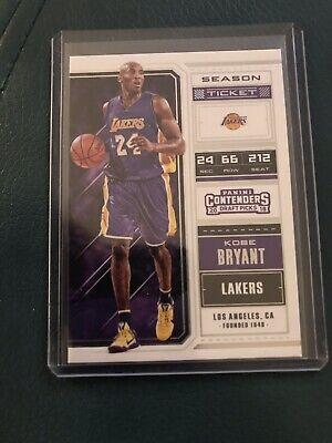 2018-19 Panini Contenders Draft Picks #34 Kobe Bryant Basketball Card Lakers