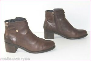 Image is loading Tommy-hilfiger-womens-brown-leather-size-42-tbe 7639cf38a433