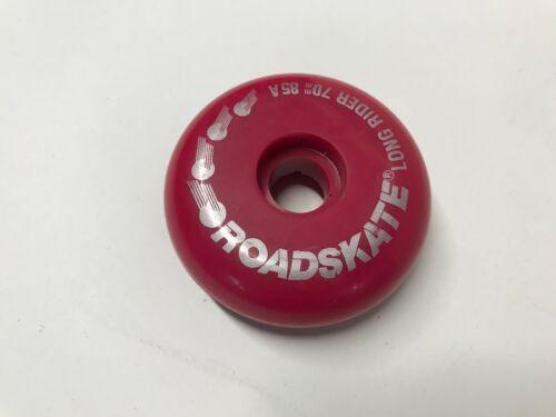 NOS Roces Roadskate Long Rider Inline Skate Wheel 70mm 85A Red//Pink