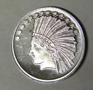 10-Indian-Saint-Gaudens-Design-1-oz-999-Fine-Silver-Silver-Round-92118