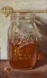 Jar-of-Honey-No-2-NOAH-VERRIER-Still-life-painting-Oil-painting-Signed-print