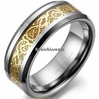 Tungsten Carbide Mm Silver Tone Celtic Dragon Ring