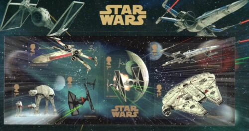 Star Wars Force Awakes Collectors Stamps Mint Condition