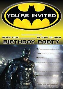 Batman Fete D 039 Anniversaire Invitations Childrens Invite