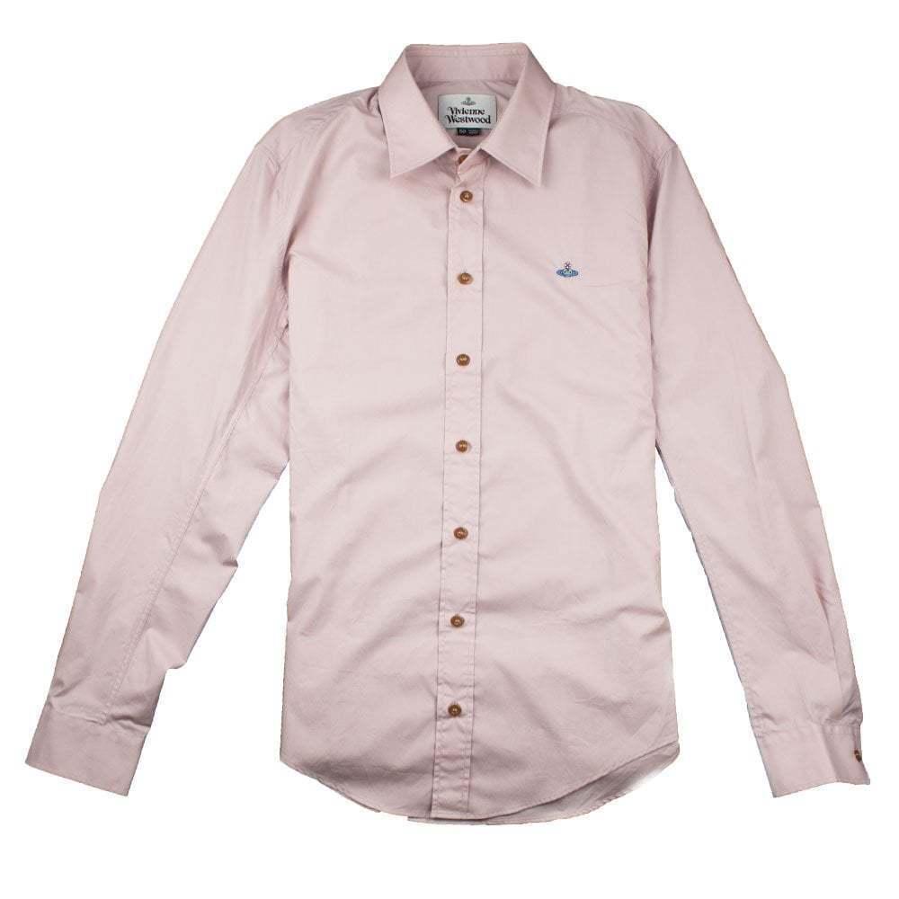 Vivienne Westwood Mens Slim Fit Long Sleeve Shirt Pink