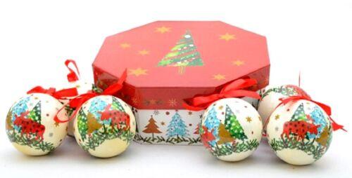 Weihnachtskugeln Baumkugeln Baumschmuck Dekokugeln Kugeln ppd Motiv Rentier