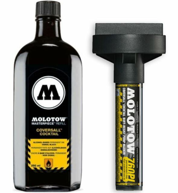 MOLOTOW MASTERPIECE SET - 60MM COVERSALL MARKER PLUS 250ML INK