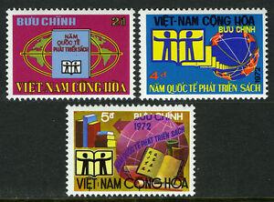Viet Nam South 441-443, MI 519-521, MNH. International Book Year. Globe, 1972