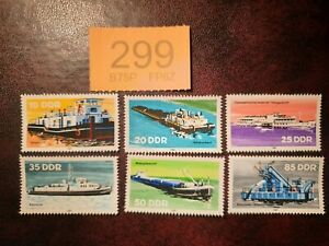 Germany DDR - 1981  - Inland Shipping. stamps MNH