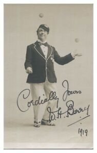 Antique-W-H-Berry-hand-signed-autograph-photographic-postcard-actor